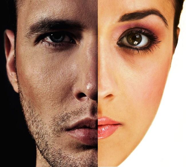 Male vs female brow position