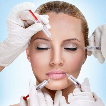Wrinkle free face with botox anti wrinkle injections by qualified doctor cosmetic clinic
