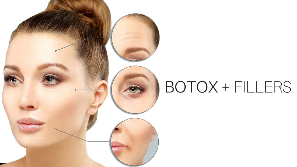 Combination treatment Botox and filler